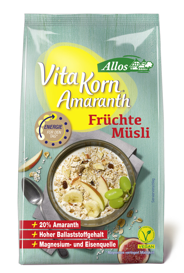 Vita Korn Amaranth Früchte Müsli (375g)