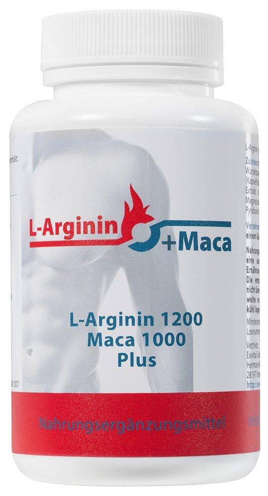 L-ARGININ 1200 mg plus MACA 1000 mg (120 Kapseln)