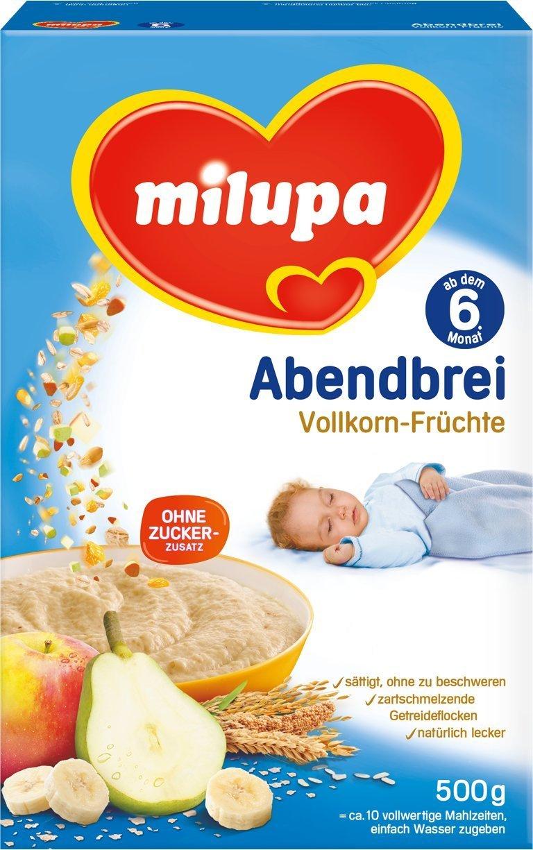 Abendbrei Milchbrei Vollkorn-Früchte 6M (500g)
