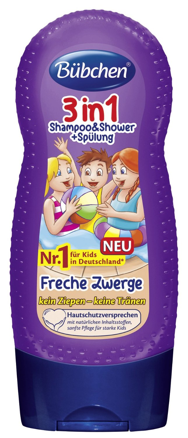 Kids 3in1 Shampoo & Shower + Spülung Freche Zwerge (230ml)